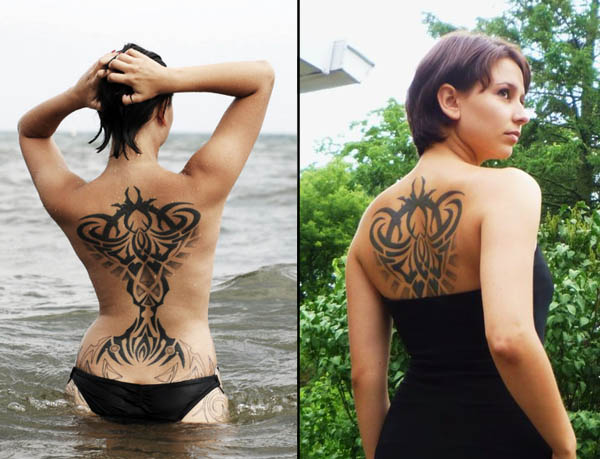 Sexy Tribal Back Piece