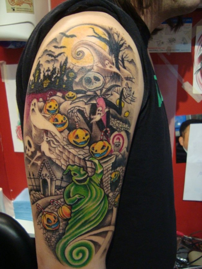 nightmare_before_christmas_tattoo_by_emerica86-d4kz7ty