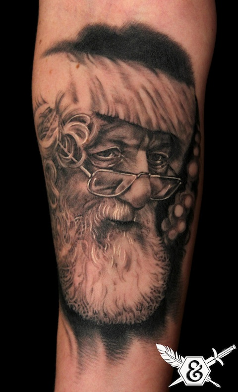 Russ Abbott Santa Tattoo